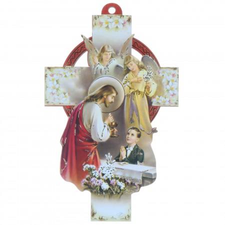 Croix de communion pour garçon 13 cm