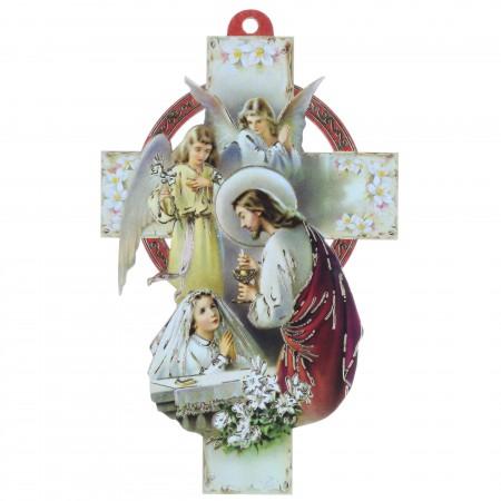 Croix de communion pour fille 13 cm