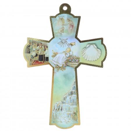 Croix de baptême 16 cm