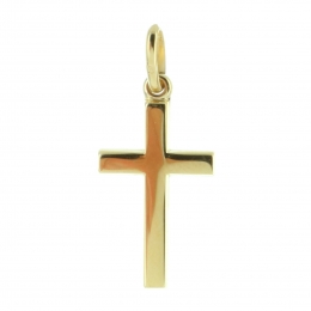 Pendentif croix Plaqué Or 18 carats
