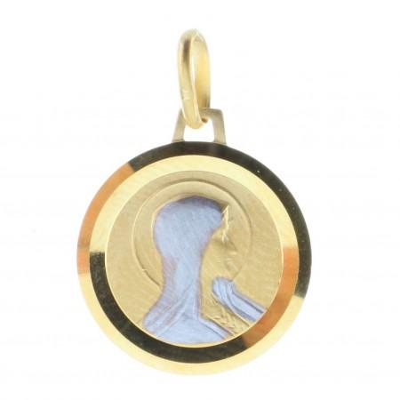 Médaille Plaqué Or 18 carats portrait de la Vierge Marie