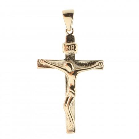 Pendentif croix Plaqué Or 18 carats moderne