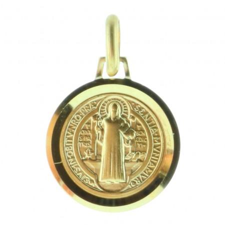 Médaille de Saint Benoit Plaqué Or 18 carats