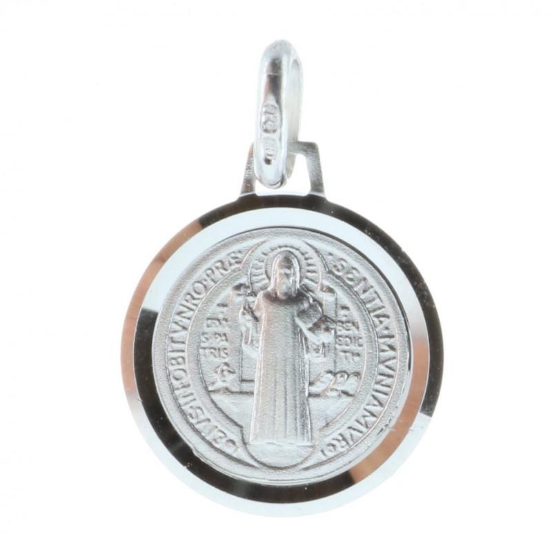 Médaille ronde de Saint Benoit en Argent