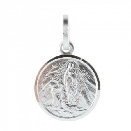 Médaille ronde en Argent de l'Apparition de Lourdes