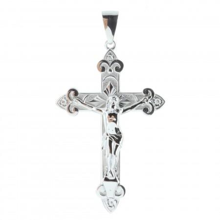 Pendentif croix Argent avec le Christ