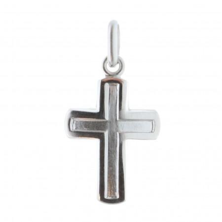 Pendentif croix incurvé en Argent