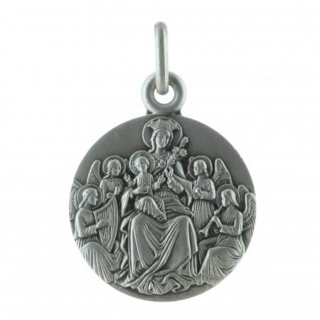 Médaille ronde Argent de la Vierge Marie aux Anges