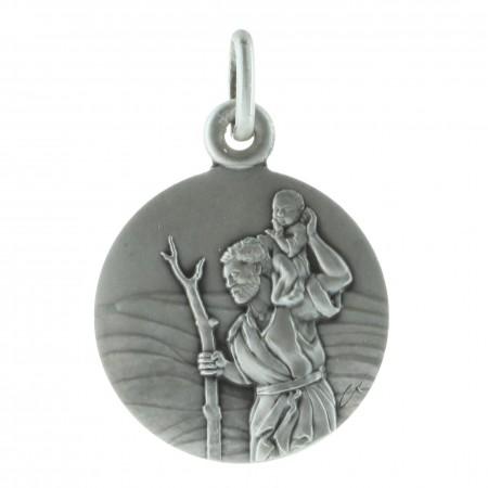 Médaille ronde Argent de Saint-Christophe