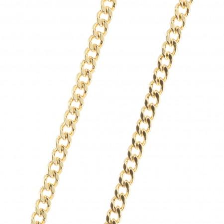 Chaîne Plaqué Or maille classique 60 cm
