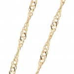 Gold plated Singapore Chain Necklace 40cm