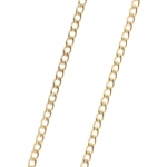 Gold plated classic style Chain necklace 50cm