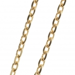 Gold Plated flat forçat link chain necklace 50cm