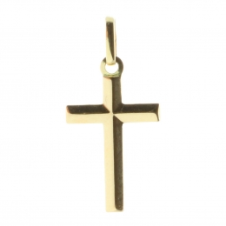 18-carat gold cross pendant