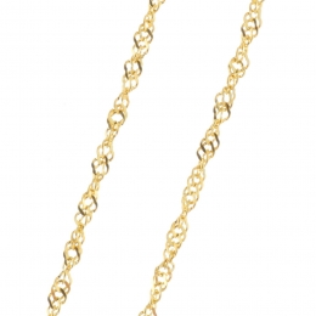 Chaîne Or 9 carats maille Singapour 45 cm