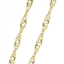 SIngapore mesh 9-carat gold chain 50 cm