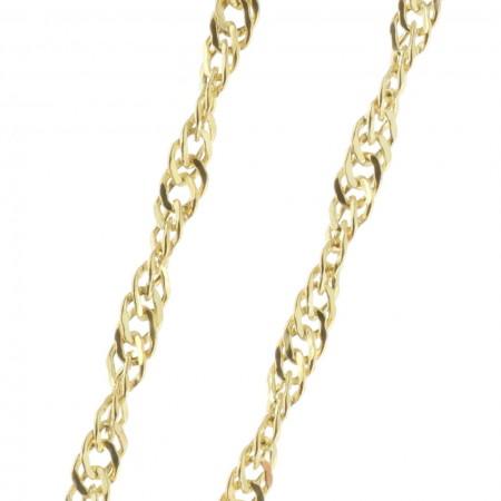 Chaîne Or 9 carats maille Singapour 50 cm
