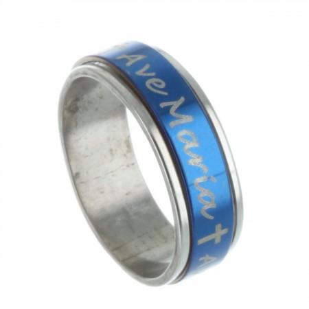 Bague tournante en métal avec l'inscription Avé Maria