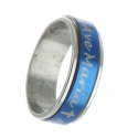 Metal rotating ring with the inscription Ave Maria