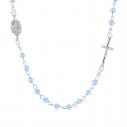Rosary necklace and lying cross