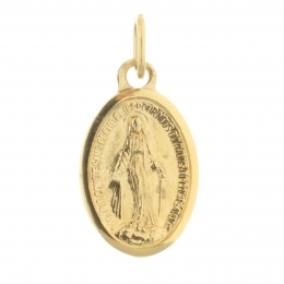Golden metal medallion and Miraculous Lady 1.5 cm