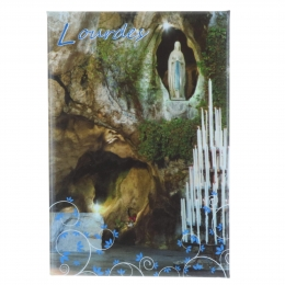 Magnet rectangle horizontal et Grotte de Lourdes