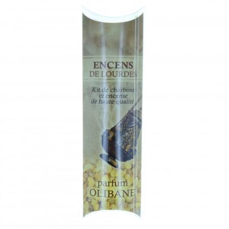 Encens religieux de Lourdes parfum Olibane avec kit de charbons