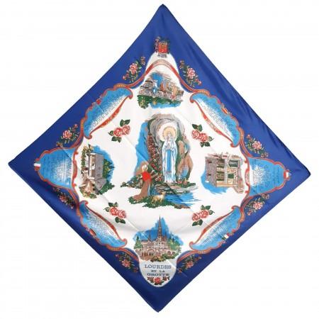 Foulard de Lourdes 80 x 80 cm