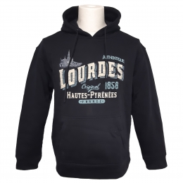 Lourdes navy blue vintage adult sweatshirt
