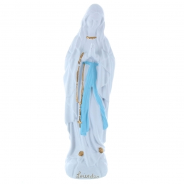 Our Lady of Lourdes refined resin statue 30 cm for outside