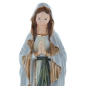 Our Lady of Lourdes resin statue, antique style 30 cm