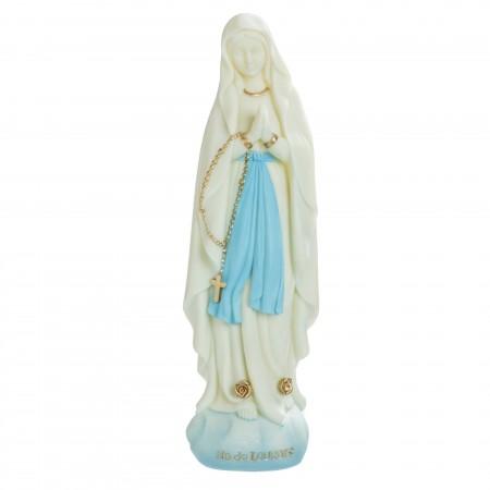 Statua Madonna luminosa in resina 14 cm