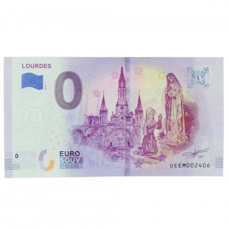 Biglietto souvenir di Lourdes 2020