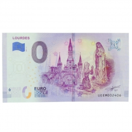 Billet souvenir de Lourdes 2020