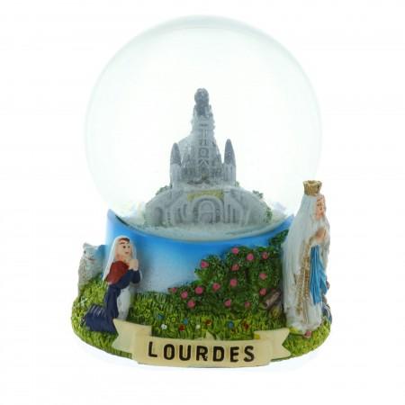 Boule de Neige décor Apparition et Basilique de Lourdes