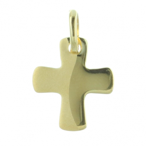 Gold-Plated curved cross pendant
