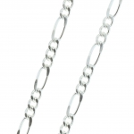 Silvery metal chain and alternate mesh 50cm
