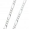 Chaîne en métal argenté et maille alternée 50cm
