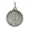 Médaille ronde en Argent avec l'Apparition de Lourdes