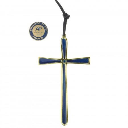 Crucifix épuré en Bronze 10 cm