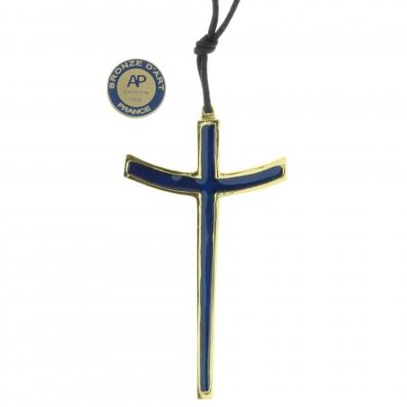 Crucifix en Bronze émaillé 10 cm