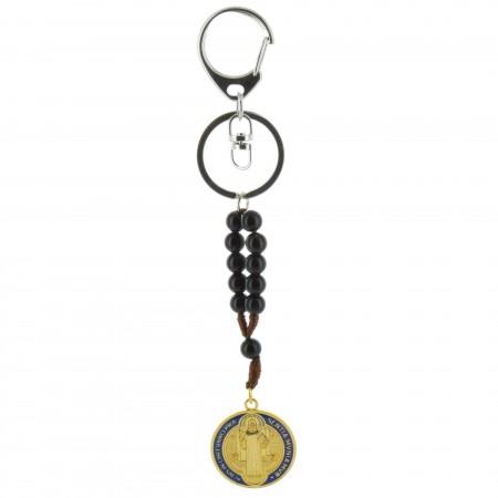 Porte-clés de Saint Benoit avec un dizainier
