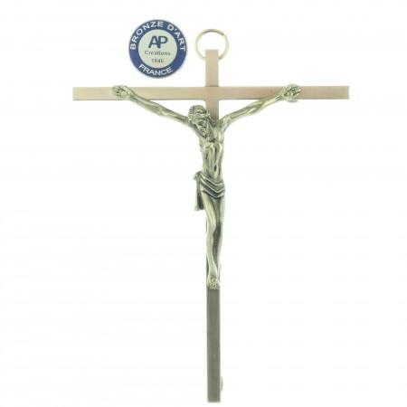 Crucifix mural en Bronze 12,5cm