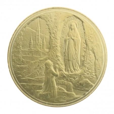 Pièce de monnaie souvenir de Lourdes
