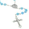 Chapelet de Lourdes en verre avec son petit livret de prière