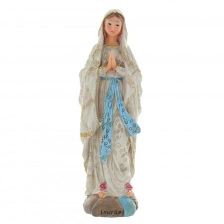 Statue Vierge Marie décorée d'arabesques 31cm