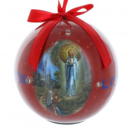 Boule de Noël de Lourdes clignotante