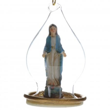 Boule de Noël transparente avec la Vierge Marie