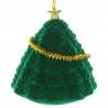 Opening velvet Christmas tree decoration