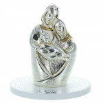 Silver-Plated Holy Family Statue 10cm